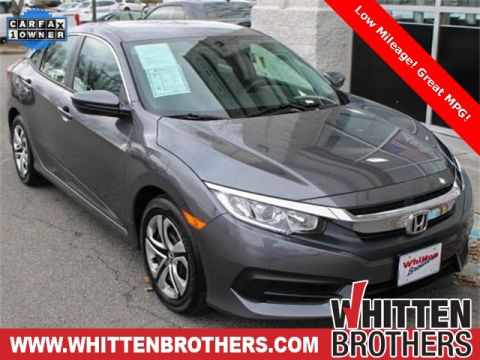 Pre-Owned 2017 Honda Civic LX FWD 4D Sedan